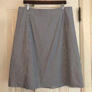 TALBOTS seersucker skirt